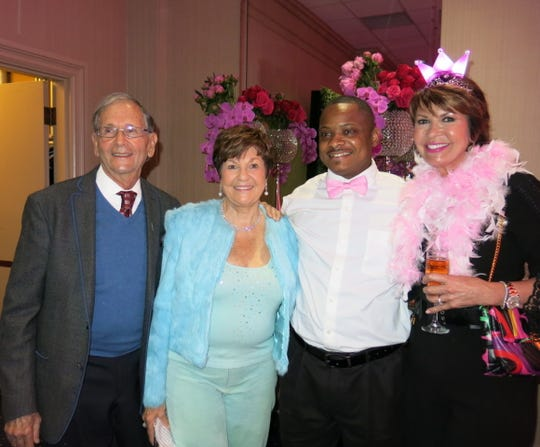 Party animals at Waynette's Birthday Bash: Dr. Carl and Sylvia Goodman, Charlie Robinson and Linda Biernacki.