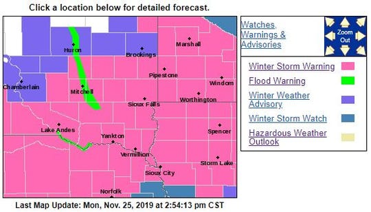 Winter storm watches and warnings for the area Tuesday.