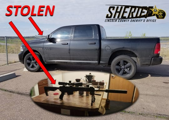Authorities are asking for the public's help in locating a stolen pick up and stolen guns.