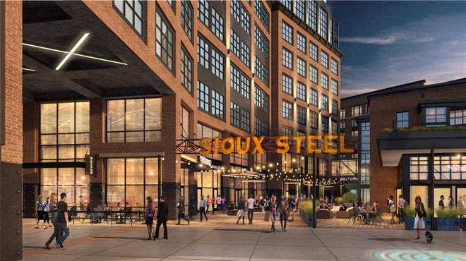 Renderings released Monday by Lloyd Cos. show plans to transform the old Sioux Steel site in downtown Sioux Falls to a mixed-use campus of buildings.
