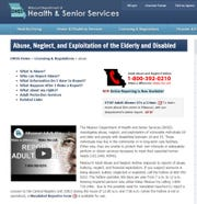 Missouri health department officials unveiled a new online portal at health.mo.gov/abuse on Nov. 25, 2019, to go along with an existing toll-free phone hotline to allow mandated reporters and the public to file reports of adult abuse.