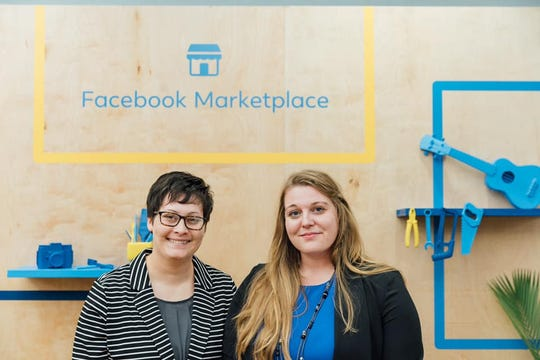 Brittany Dyer, left, and Heather Dyer said they were thrilled and humbled to be invited by Facebook to the New Year, New Side Hustle event on Nov. 18, 2019, in New York.