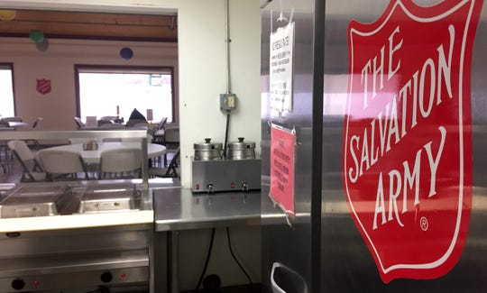 The kitchen and dining room at St. Cloud Salvation Army, pictured Monday, Nov. 25, 2019, will be transformed with tablecloths, decorations and plenty of Thanksgiving tidings on Thanksgiving.