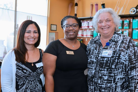 Yvette Cruz, left, of Treasure Coast Urgent Care; Antoinette Josue, of Better Life Homecare; and Rosemarie Sheppard, of the St. Lucie County Property Tax Appraiser's Office.