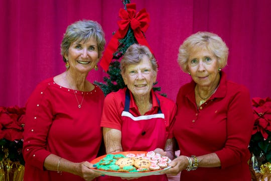 Barbara Schwin, left, Sue Coffey and Susan Foster promise lots of homemade goodies at Cookies-by-the-Pound and Mrs. Claus' Pantry at the Dec. 7 Christmas Tree Lane, the holiday boutique and cookie/bake sale at First Presbyterian Church of Vero Beach.