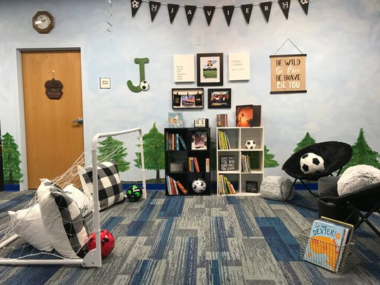 Javi's Field of Books is a reading corner inside the Frank Macias Elementary School library that honors the life of former Clint ISD student Javier Amir Rodriguez, the youngest victim of the Aug. 3, 2019, shooting.