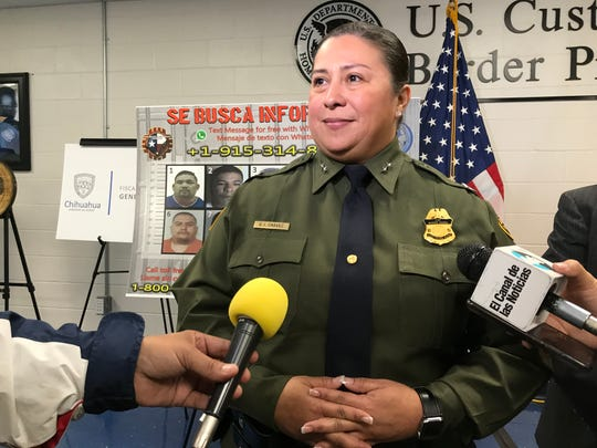 "Border Patrol El Paso Sector interim Chief Gloria Chavez announces the Department of Homeland Security's ""Se Busca,"" or ""Most Wanted,"" initiative in El Paso on Monday, Nov. 25, 2019."