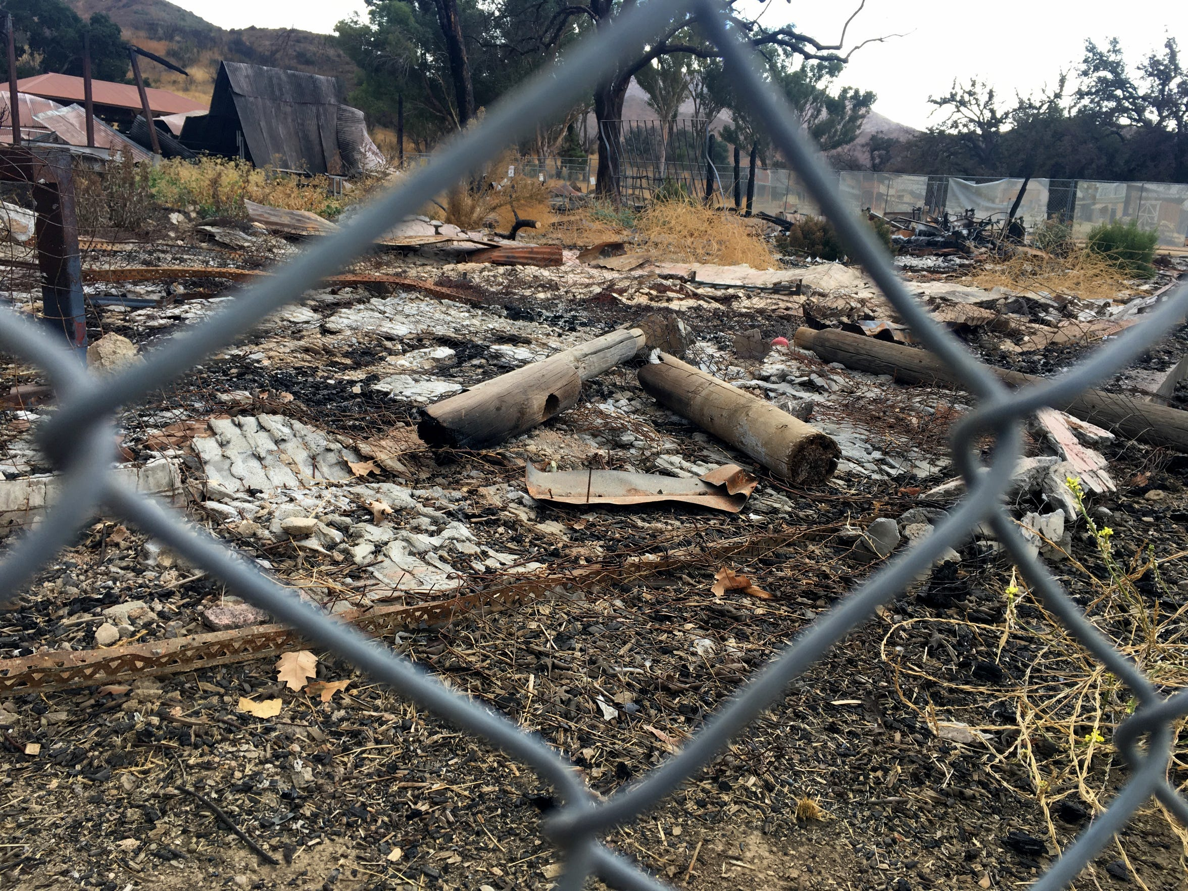 Debris at Paramount Ranch will soon be removed to make way for reconstruction of the western movie town, which was destroyed by the Woolsey Fire.