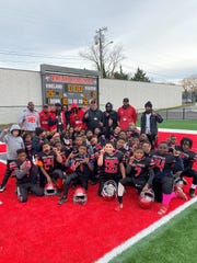 The Vineland Wolfpack celebrates after a 26-0 win over Kingsway in last weekend's semfiinal round.