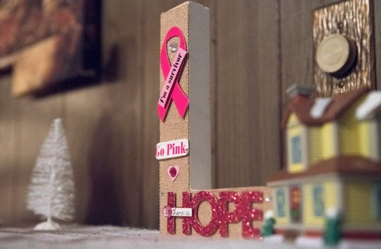 Decorations adorn the Vineland famly home of cancer patient Luz Rivera.  The family was selected for the Salvation Army Adopt-A-Family showcase, which will kickstart a campaign to help link 200 families in need with benefactors.