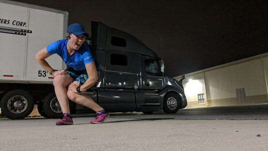 Robin Grapa fits in workouts, runs and hikes whenever she can while driving for Midwest Carriers Corp.