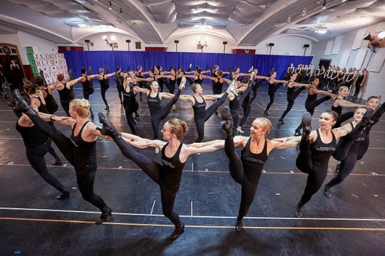 October 22, 2019: The Radio City Rockettes rehearse for the Christmas Spectacular at the St. Paul the Apostle Church in New York City.