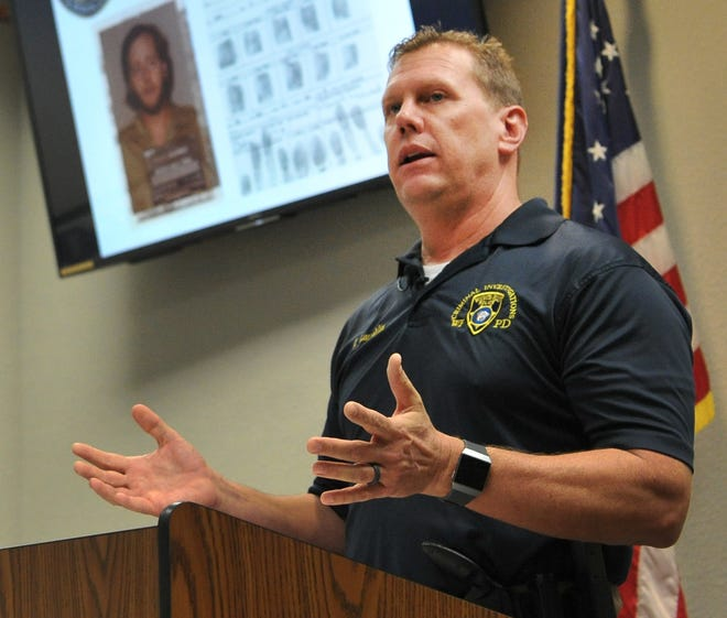 Wichita Falls police cold-case detective, John Laughlin announced a possible arrest in a murder the department has been investigating since 1980 during a media conference held at the Fire and Police Training Center, Monday afternoon.