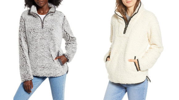 This cozy pullover is a must.