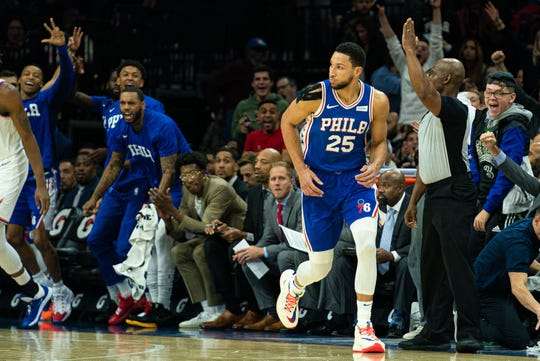 Players and fans loved Ben Simmons' first career 3-pointer.