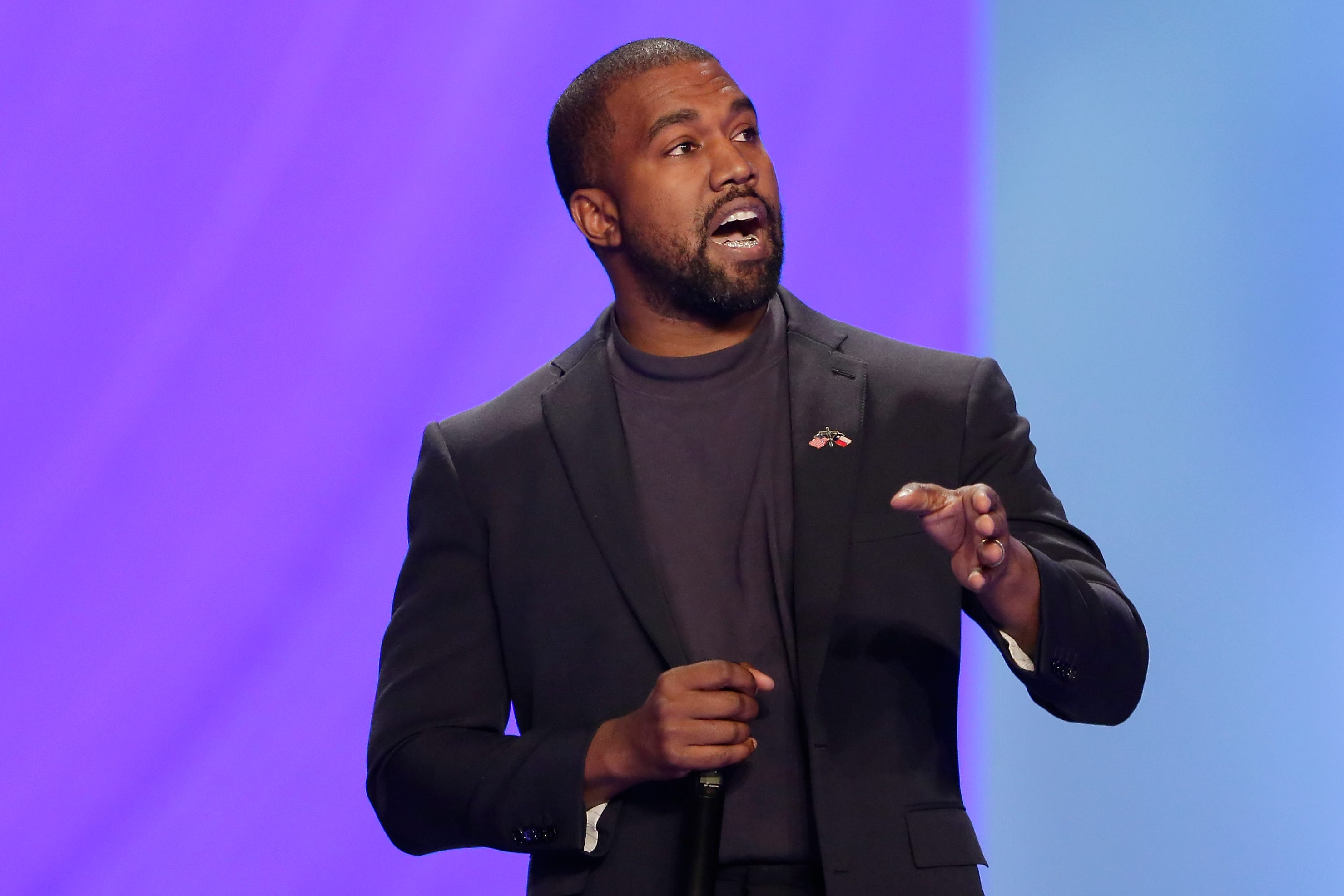 Kanye West claims in rally Harriet Tubman never  freed the slaves,  tearfully discusses abortion