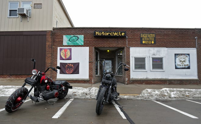 The building at 206 Main St. in Neenah will be used by Bergstrom Automotive to store parts. It previously housed Eagle Nation Cycles and served as the clubhouse of Hell's Lovers motorcycle club.