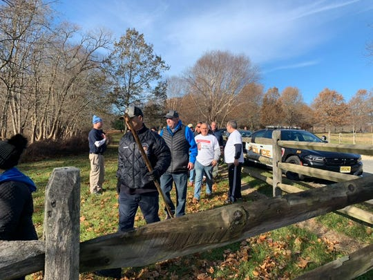 Volunteers gather at Durand Park in Freehold Township Tuesday to continue the search for Stephanie Parze, missing since Oct. 30. Nov. 26, 2019