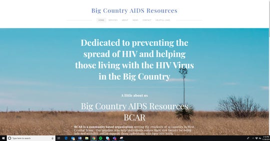 The website of Big Country AIDS Resources, bcartx.com. The organization serves HIV patients in West Central Texas with a variety of services.