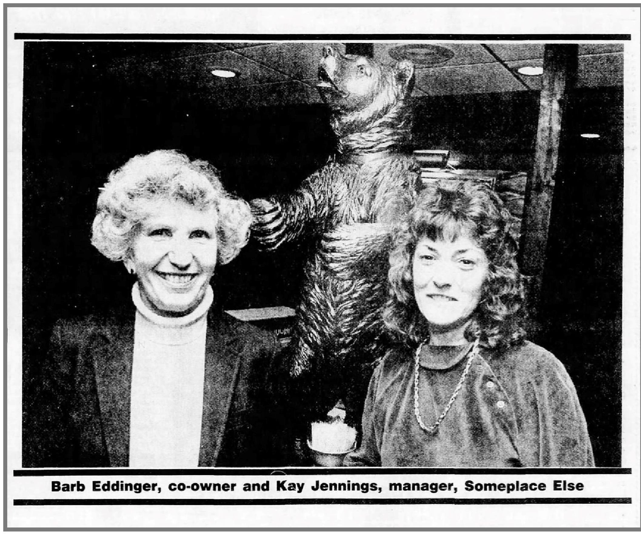 Barb Eddinger and Kay Jennings in the Feb, 21, 1989 edition of the Battle Creek Enquirer.