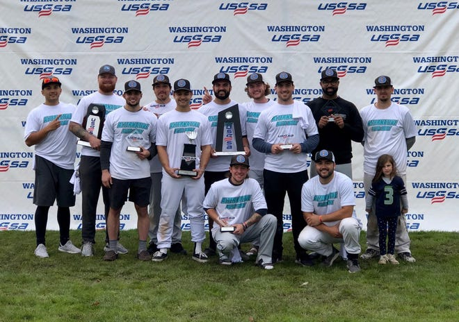 """Cain Custom, comprised mainly of former Central Kitsap High School athletes, won the USSSA """"E"""" World Tournament-West on September 26 at Celebration Park in Federal Way."""