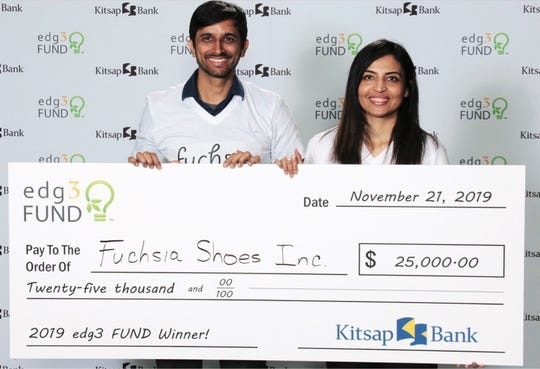 Fuchsia Shoes was named the 2019 edg3 fund winner at the annual Kitsap Bank event in November.