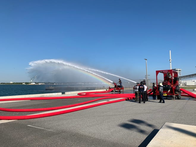 A new pumping system is being tested at Port Canaveral in case of a loss of water pressure.