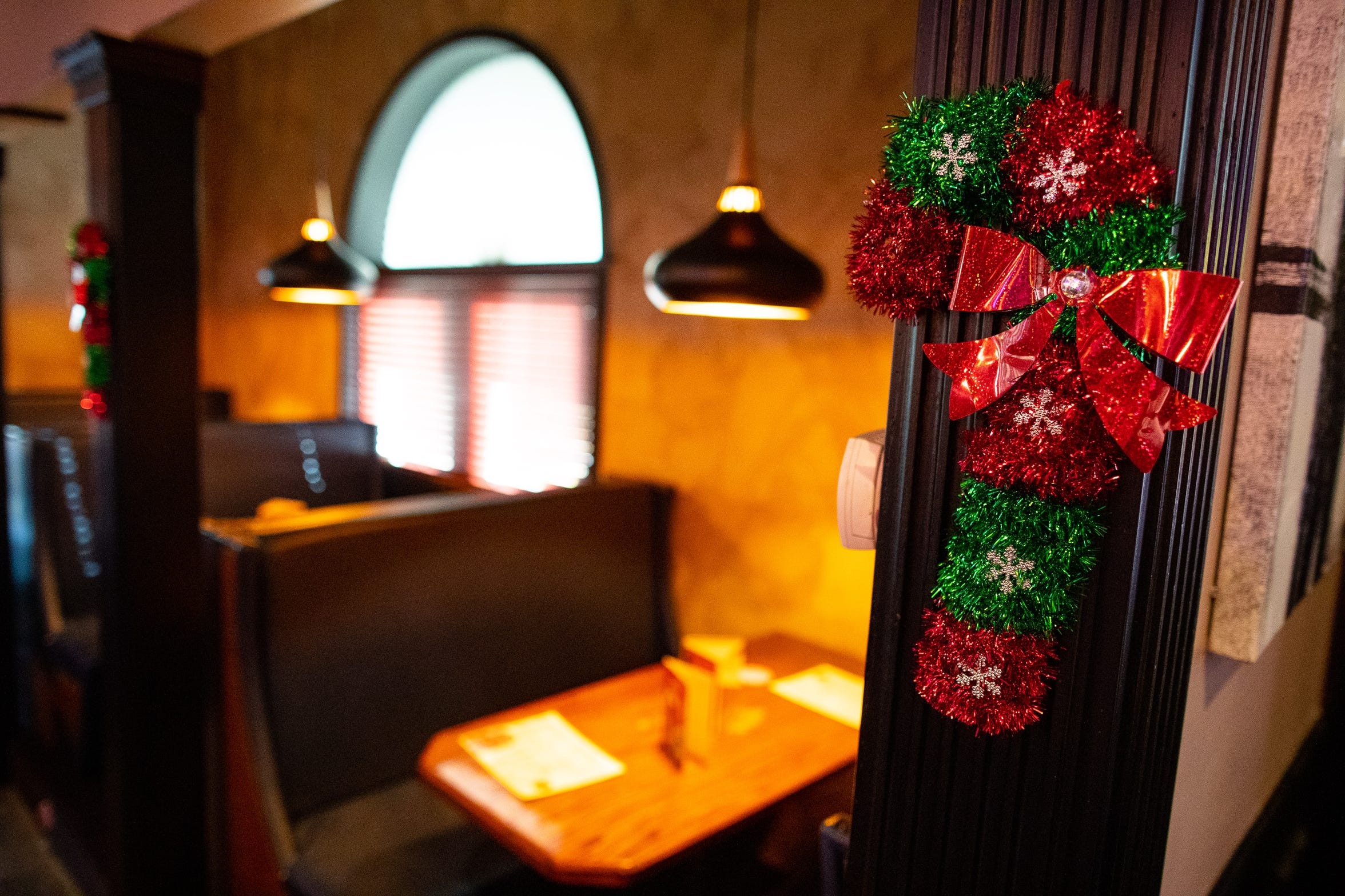 Christmas decorations are on display at Miracle Cocktail Pop-Up Christmas bar at Katz 21.