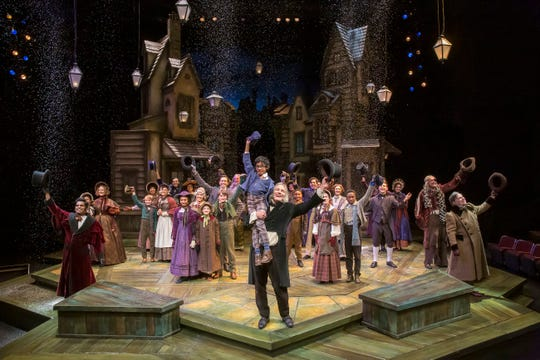 """The finale of the Playhouse in the Park's 2019 production of """"A Christmas Carol."""""""
