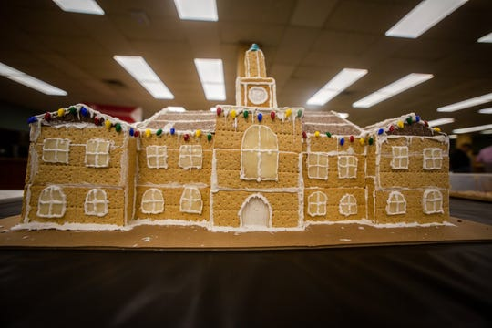 APSU students submitted nine graham cracker structures modeling a building — past or present — on Austin Peay's campus.