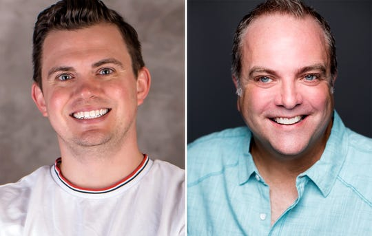 "Ryan Bowie and Brian Best star in ""A Tuna Christmas"" in the Roxy Regional Theatre's theotherspace, Dec. 2-17."