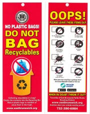 Effective Monday, Dec.2,material that is placed in plastic bags or with plastic bags will be grounds for rejection and will not be collected.