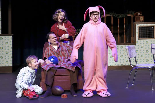 """A Christmas Story, The Musical,"" at the Des Moines Playhouse."
