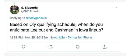Wrestling Mailbag, Nov. 26, Tweet 4