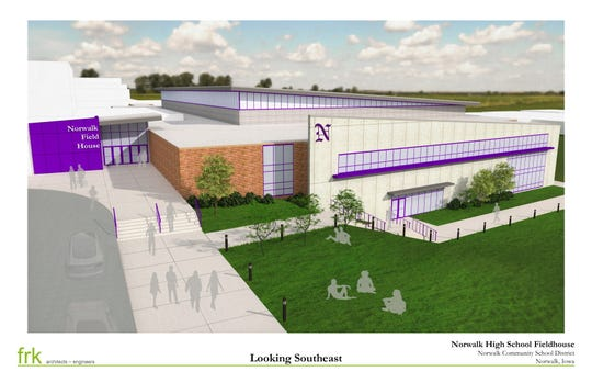 Norwalk School Board members have not yet determined the square footage of the NPECC, which will be attached to the high school to the south of the school's existing gym.