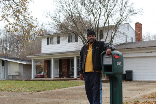 Gammie Roosevelt, resident of Plumbrooke Estates for over a year, stands by his mailbox in front of his house, Monday, Nov. 25, 2019.