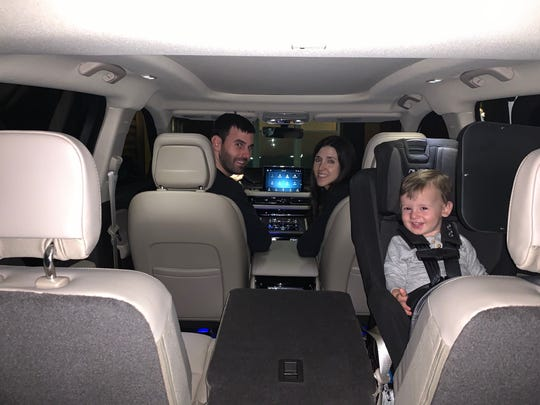 Jake, Danielle and little Luke Williamson of Jacksonville, Florida take a road trip to Disney World on November 16, 2019. They love their 2020 Lincoln Aviator.