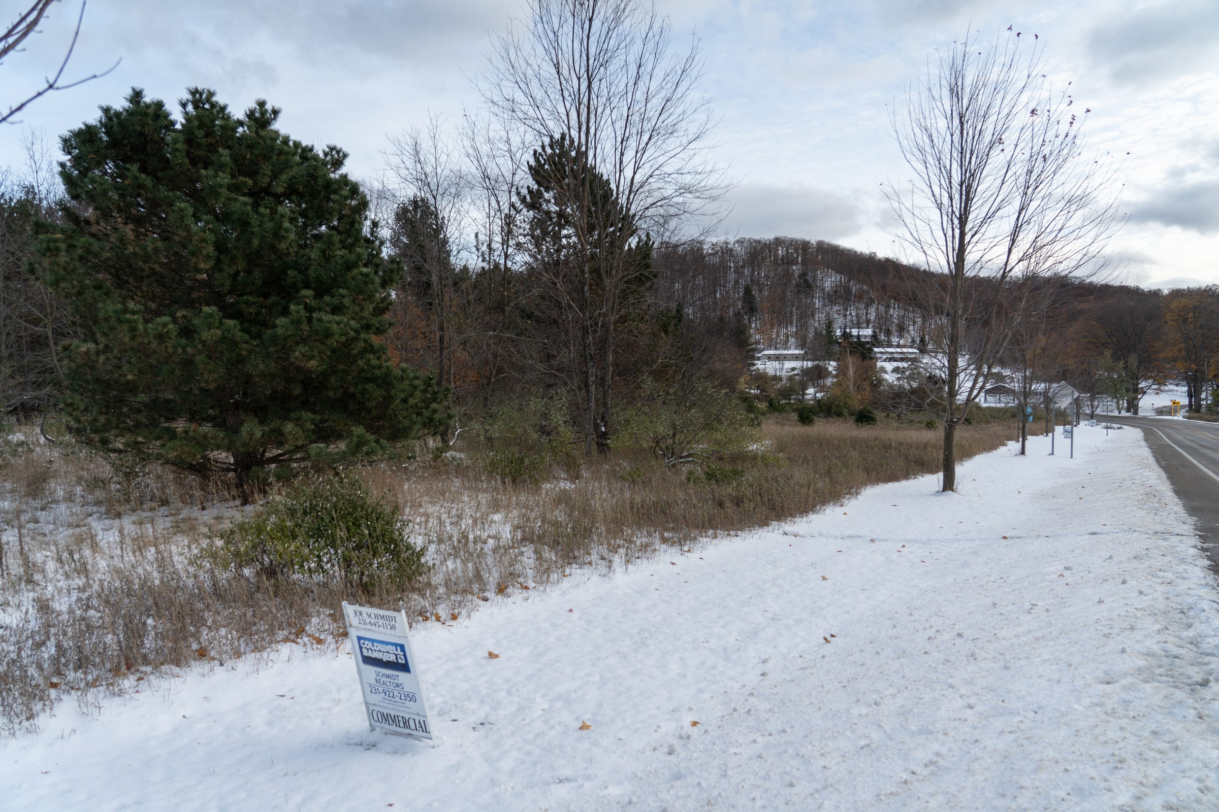 A plot of land for sale along M-22 near downtown Empire, seen here on Nov. 8. 2019, drew offers from a company known to sell property to dollar stores, leading to a moratorium on zoning applications in the little village.