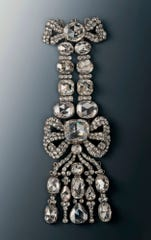 An Epaulette of the Diamond Rose set that were stolen from the Green Vault in Dresden, Germany.