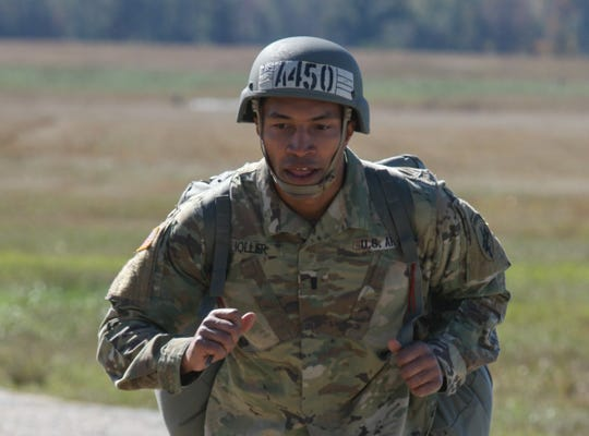 Michigan Sen. Adam Hollier, 34, recently trained to become paratrooper. Hollier serves in the U.S. Army Reserve.