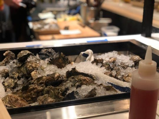Oysters on deck to be shucked at Mink in Corktown, opening Wednesday.