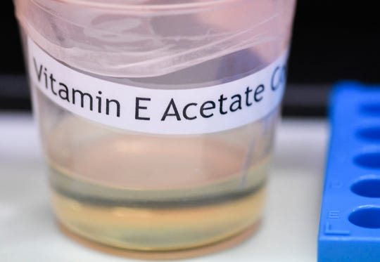 A vitamin E acetate sample.