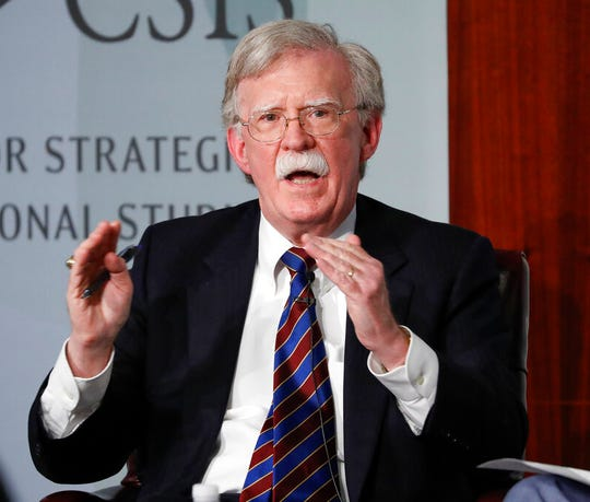 In this Sept. 30, 2019, file photo, former National security adviser John Bolton speaks at the Center for Strategic and International Studies in Washington.