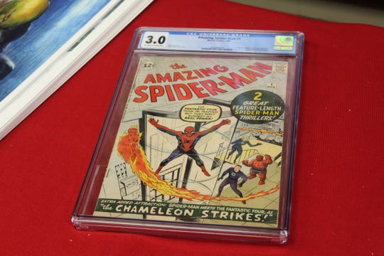 "A 3.0 graded ""The Amazing Spider-man #1"" at Rupp's Comics is on sale for $8,500."