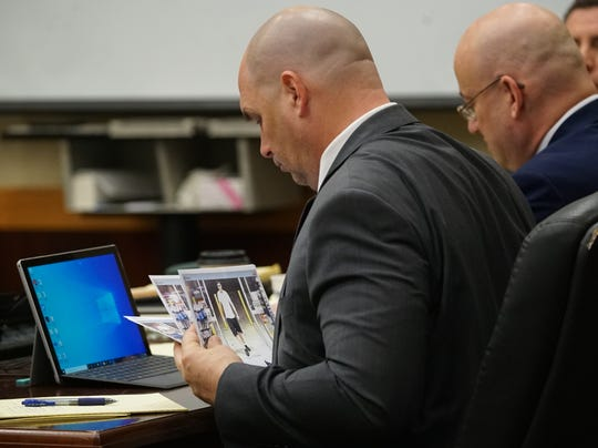 The trial for Mark Sievers, who is charged with first-degree murder and conspiracy to commit murder for the death of his wife Teresa Sievers, Tuesday, Nov. 26, 2019, at the Lee County Justice Center in Fort Myers.