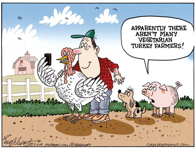 A vegetarian turkey farmer.
