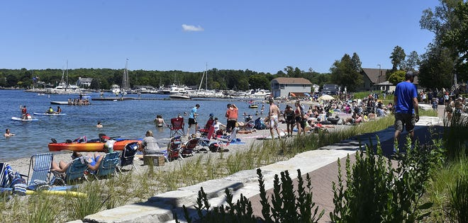 The beach at Waterfront Park in Sister Bay nearby where the Dorr Hotel will be come 2021.