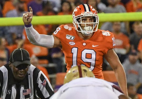 "Clemson defensive back Tanner Muse (19) said it was ""embarrassing"" when South Carolina quarterback Jake Bentley passed for 510 yards on the Tigers in 2018."