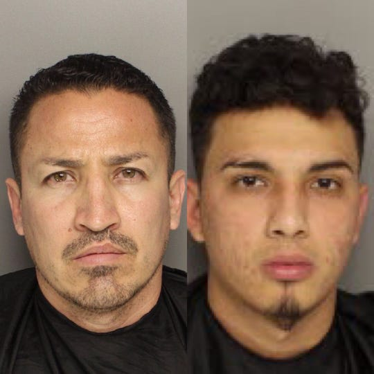 Juan Carlos Baccerra Zambada, also known as Juan Becerra Manjarrez (left) and Jhonatan Ruiz (right) were arrested Monday, Nov. 25, 2019, in Greenville County where deputies seized nearly six pounds of methamphetamine, cocaine and about $7,500 in U.S. currency from a Greenville home.