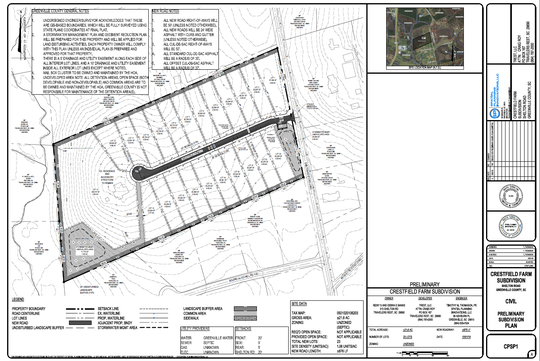 The proposed Crestfield Farm subdivision, with a plan to build 22 houses on 13 acres, is just northeast of Travelers Rest.